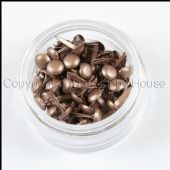 The Hobby House Mini Round Brads - Pearlescent Milk Chocolate - HHMB024
